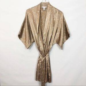 Morgan Taylor Satin Celestial Print Robe